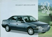 Peugeot 405 Exclusive Sales Brochure - German, French & Italian Language.