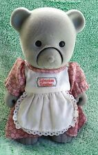 Sylvanian Families Star Performers Grey Mother Bear TOMY Battery blinking large