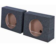 """2) Q-POWER QTW12 Single 12"""" Sealed Car Audio Subwoofer Sub Box Enclosures Pair"""