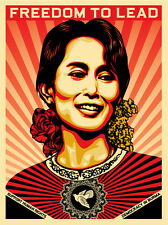 AUNG SAN SUU KYI screen print 450 shepard fairey obey giant  *SOLD OUT**