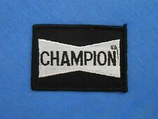 Vintage CHAMPION Spark Plugs Patch Racing Muscle Car Jacket Automotive Mechanic