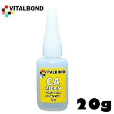Vitalbond MEDIUM SUPER COLLA 20g Cyanoacrylate BOTTIGLIA vb03 vitale Bond