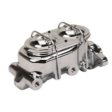 Chrome Corvette Style Master Cylinder 4 Port Chevy Chevrolet Universal Street GM