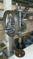 Antique Cast Iron Champion Forge   Post Drill Press Tool Vintage. See VIDEO!