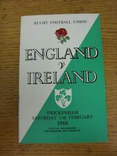 25/11/1978 Rugby Union Programme: England v New Zealand [At Twickenham] (minor f