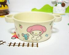"""Sanrio My Melody Natural Plant Fiber Handle Bowl  for Kids Girls 4"""" Dia. Ivory"""