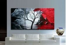 YH002 3PCS Modern Abstract Canvas Oil Painting Art Tree hand-drawn No frame