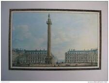 reproduction gravure vue de la colonne Bellique située place Vendôme 1754 - 1826