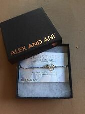 Authentic Alex and Ani Anchor Precious Threads Sterling Silver Bracelet