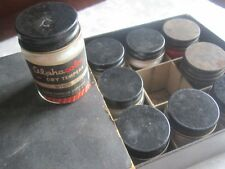 Vintage Alphacolor Dry Tempera Paint 1950s 15 full bottles Art Supplies