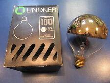 LINDNER Globelampe G95 E27 kuppenverspiegelt Kuppe GOLD 100W ø 95mm Glühlampe