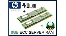 HP 8GB (2x4GB) PC2-5300F 667Mhz ECC FBDimm Fully Buffered Ram Memory 397415-B21