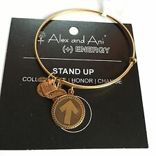 "ALEX AND ANI ""STAND UP TO CANCER"" CHARM BRACELET IN RUSSIAN GOLD! NWT AND CARD!"