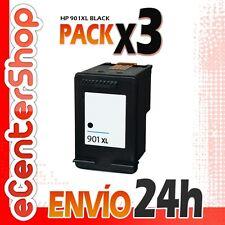 3 Cartuchos Tinta Negra / Negro HP 901XL Reman HP Officejet 4500 24H