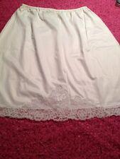 Vintage White Van Raalte Half Slip Butterfly Size M-L All Nylon USA