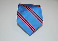"Brooks Brothers Mans Tie Fine  Silk 58"" Long 3 1/2"" Wide Blue Pink Stripe"