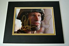 Aaron Eckhart Signed Autograph 10x8 photo display War Film Battle Los Angeles