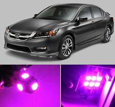 10 x Premium Hot Pink LED Lights Interior Package Kit for Honda Accord