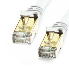 6.5ft CAT7 LAN Network Cable Full Gold RJ45 Patch SSTP Ethernet Internet White