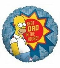 Homer THE SIMPSONS Father's Day Best Dad in House Birthday Balloon