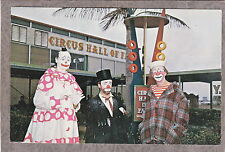 CIRCUS CLOWN HALL OF FAME SARASOTA FL BOBO VICTOR COCO Postcard