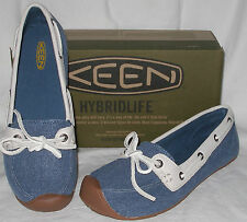 NEW womens KEEN Catalina Canvas BOAT shoes 8 Ensign Blue NIB shoe
