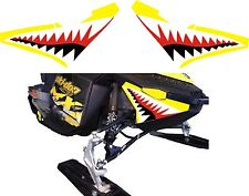 SKI DOO BRP REV XP nose cone jaws shark teeth RENEGADE FREERIDE DECAL STICKER 1