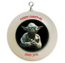 Personalized Star Wars Yoda Christmas Ornament Gift