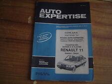 REVUE TECHNIQUE AUTO EXPERTISE RENAULT 11 2 et 4 PORTES ESSENCE et DIESEL