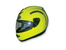 Reevu MSX1 Hi Viz Rear View Full Face Helmet, DOT ECE, Yellow, Size 2XL