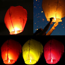 Kongming Lanterns Chinese Paper Sky Fire Candle Wish Wedding Flying Party Lamp