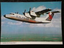 POSTCARD DE HAVILLAND DASH-7 AEROPLANE LONDON CITY