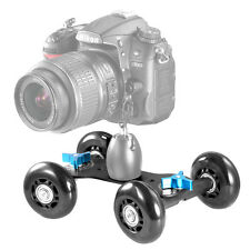 Neewer Mobile Rolling Slider Dolly Car Skater Video Track Rail for Speedlite