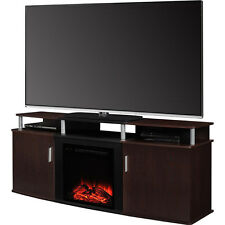 "63"" Electric Fireplace Media Entertainment Center Home Theater TV Stand Heater"