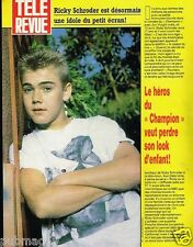 Coupure de Presse Clipping 1987 (1 page) Ricky Schroder