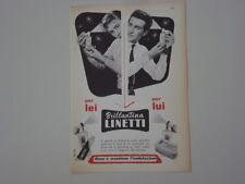 advertising Pubblicità 1959 BRILLANTINA LINETTI
