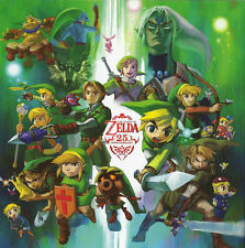 "the legend of zelda 25th anniversary Game Fabric poster 24"" x 24"" Decor 96"