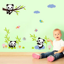 Panda Family Wall Decor Decal,Kids Baby Nursery Bedroom Mural Sticker Decals a57