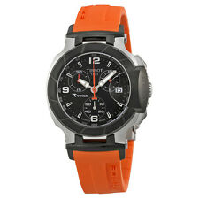 Tissot T Race Chronograph Orange Silicone Strap Ladies Watch T0482172705700