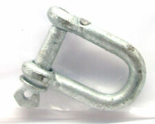 8mm x Galvanised Dee D Shackle for marine boat shade sail