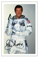 ROGER MOORE JAMES BOND MOONRAKER SIGNED AUTOGRAPH PHOTO PRINT