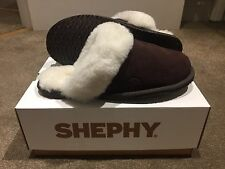 37 4 - 4.5 Chocolate Brown SHEPHY Luxurious Sheepskin And Suede Slippers