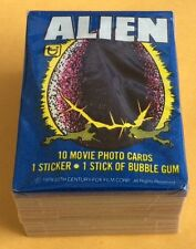1979 Topps Alien Trading Card Set & Wax Pack & EMPTY Display Box