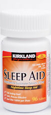 Kirkland Sleep Aid (Doxylamine succinate) 25 mg 96 Tablets - Brand New Sealed