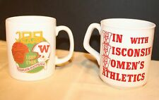 Pair of 2 Wisconsin Badgers Mugs Steins 100-year football and Women in Sports