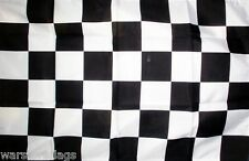 "BLACK & AND WHITE CHECKERED FLAG 18"" X 12"" boats treehouses caravans MOTOR RACE"