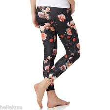 Adidas Originals TREFOIL ROSES LEGGINGS Tight Yoga gym Running Pant~Womens sz XS