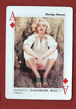 MARILYN MONROE CHINESE Star Playing Card Ace of Diamonds Made in China by HCG
