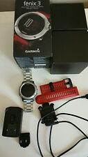 Garmin fenix 3, Silver - includes ss watch band but no heart rate monitor