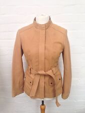 Womens John Lewis Leather Jacket - Uk14 - Beige - Great Condition